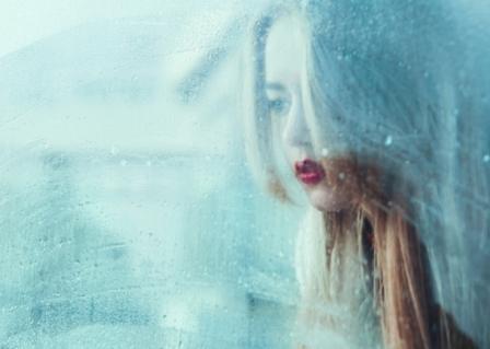 Dissociation woman window